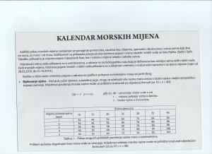 Kalendar morskih mjenja